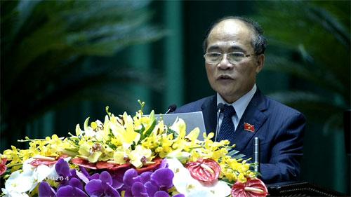 Chủ tịch Quốc hội Nguyễn Sinh Hùng khai mạc kỳ họp thứ 7, Quốc hội khóa XIII