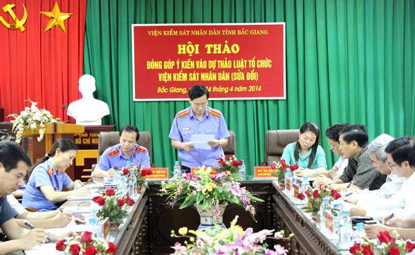Một Hội thảo lấy ý kiến đóng góp vào dự thảo Luật Tổ chức VKSND (sửa đổi)